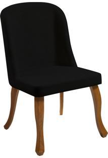 Cadeira Marina T1104 Cetim Preto Daf Preto