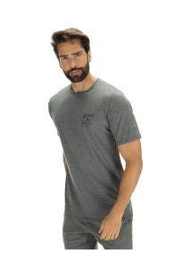Camiseta Hurley Turtle Tee - Masculina - Cinza