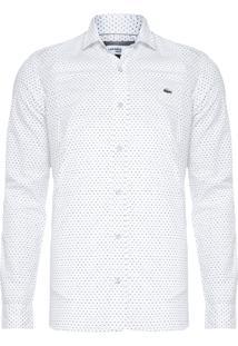 Camisa Masculina Manga Longa - Branco