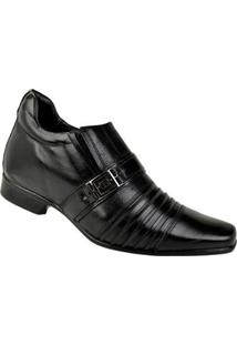 Sapato Social Couro Rafarillo Masculino - Masculino-Preto