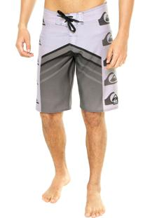 Boardshorts Quiksilver Arch Stack Perfor Cinza