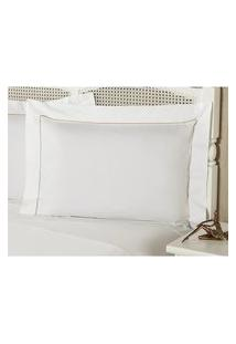 Fronha Percal 230 Fios 50X90Cm Premium Caress Branca Plumasul