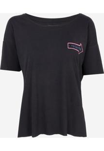 Camiseta Rosa Chá Fifi Malha Preto Feminina (Preto, P)