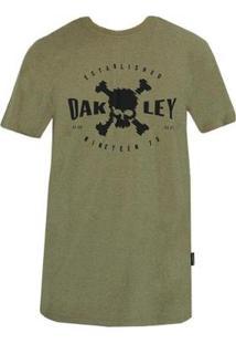 Camiseta Oakley Big Skull Tee Masculino - Masculino-Marrom