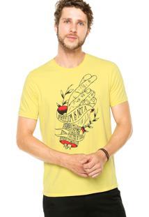 Camiseta Colcci Freedom Amarela