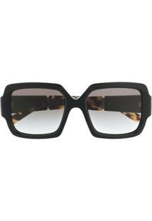 Prada Eyewear 0Pr21Xs Geometric-Frame Sunglasses - Marrom