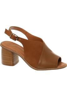 Sandal Boot Em Couro E Nobuck Camel