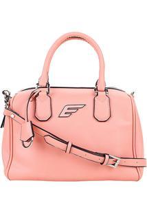 Bolsa Shopper Ellus Bowling Bag Feminina - Feminino-Rosa
