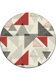 Tapete Love Decor Redondo Wevans Triangulo Geométricos Off 84Cm
