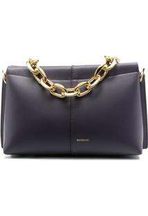 Wandler Mini Carly Chain-Link Shoulder Bag - Roxo