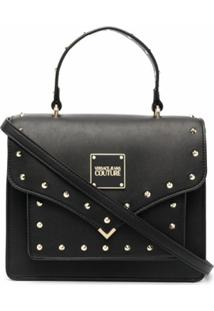 Versace Jeans Couture Stud-Embellished Satchel - Preto
