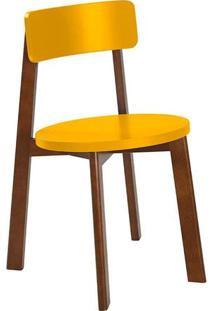Cadeira Lina Cacau/Amarelo Maxima