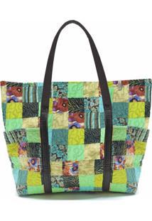 Bolsa Grande Josy Clover Em Patchwork Original - Multicolorido - Feminino - Dafiti