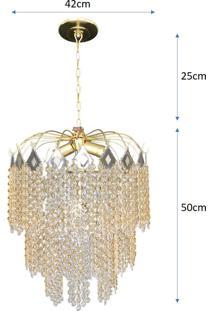 Lustre De Cristal Acrílico Alto Brilho 42X75 Lina Design Ac54
