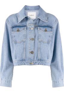 Ba&Sh Jaqueta Jeans Cropped Dilan - Azul