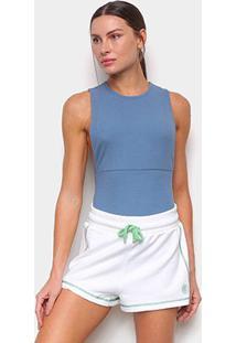 Body Colcci Canelado Feminino - Feminino-Azul Navy