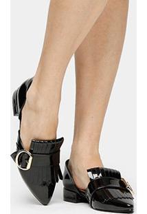 5e95cdac23 Mocassim Shoestock Franja Fivela Feminino - Feminino-Preto
