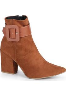 Ankle Boots Fena Fivela Caramelo