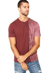 Camiseta Calvin Klein Recorte Vinho