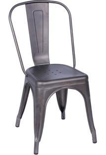 Cadeira Retro- Bronze- 86X36X35,5Cm- Or Designor Design
