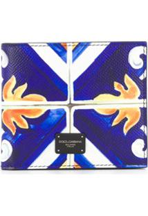 Dolce & Gabbana Carteira Dobrável Com Estampa - Azul