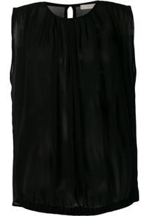 L'Autre Chose Blusa Translúcida - Preto