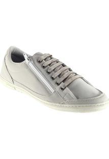 Sapatênis Doc Shoes Ziper. - Masculino-Bege