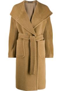 Tagliatore Trench Coat Com Cinto - Marrom