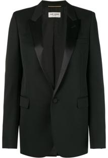 Saint Laurent Blazer De Smoking 'Giacca' - Preto
