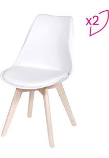 Jogo De Cadeiras Modesti- Branco & Bege- 2Pã§S- Oor Design
