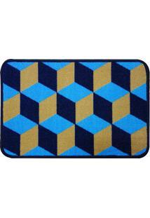 Capacho De Porta Innove- Azul Marinho & Bege- 60X40Cniazitex