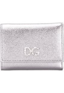 Dolce & Gabbana Carteira Dg Com Cristais - Prateado