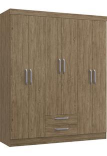 Guarda Roupa Casal Decibal Rp2620 Turquesa 6 Portas 2 Gavetas Wood