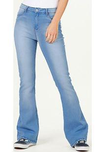 Calça Jeans Flare Hering Feminina - Feminino-Azul Claro
