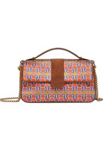 Fendi Grille Royale Print Shoulder Bag - Marrom