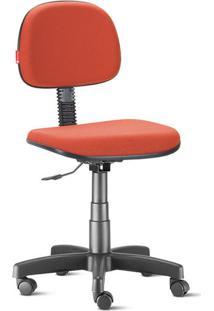 Cadeira Secretária Giratória Crepe Vermelho