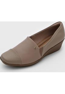 Scarpin Piccadilly Anabela Bege
