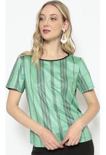 Blusa Acamurçada - Verde & Preta - Morena Rosamorena Rosa