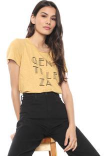 Camiseta Colcci Assimétrica Bege