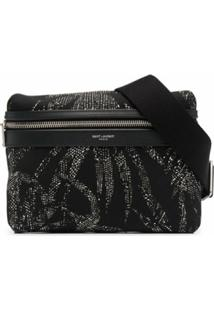 Saint Laurent Pochete Com Estampa Tropical - Preto