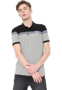 Camisa Polo Calvin Klein Jeans Reta Etiqueta Nck Cinza
