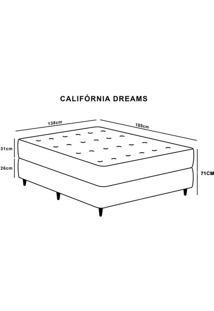 Cama Box Casal Hellen California Dreams Com Mola Ensacada Europillow 71X138X188Cm