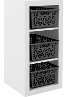 Armário Organizador Og2200 Branco/Preto - Tecno Mobili