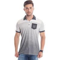 Camisa Pólo Branca Com Bolso masculina  0399f24058798