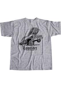Camiseta Cheiro De Gasolina Low Rider Cinza