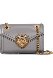Dolce & Gabbana Bolsa Tiracolo Devotion Mini - Prateado