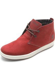 Bota Couro Timberland Plain Toe Leather M Vermelha