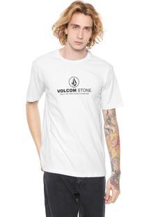 Camiseta Volcom Super Clean Branca