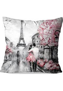 Capa De Almofada Avulsa Decorativas Paris 45X45Cm