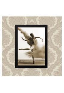 Quadro Decorativo 33X43Cm Nerderia E Lojaria Ballet Sepia Preto